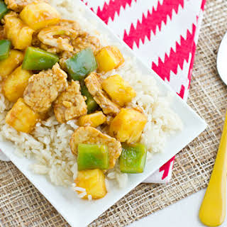Sweet And Sour Tempeh.
