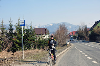 Photo: Damian na trasie za Milówką