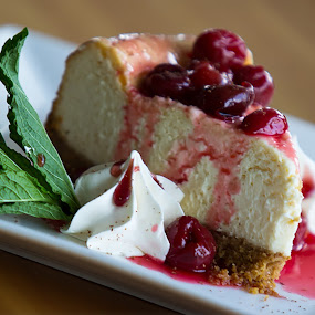 June's Cherry Cheesecake by Matt Holley - Food & Drink Candy & Dessert ( food, hungry, nomnom, yummy, foodie, eat, cook, family, cooking, groceries, breakfast, lunch, dinner, dessert, tasty,  )