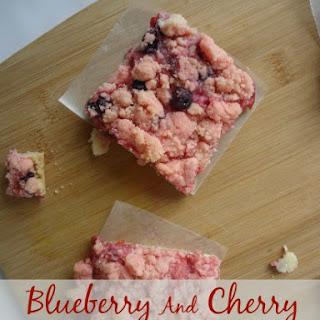 Blueberry And Cherry Red Velvet Bars