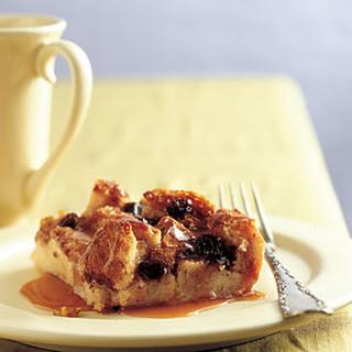 Irish Bread Pudding with Caramel-Whiskey Sauce.
