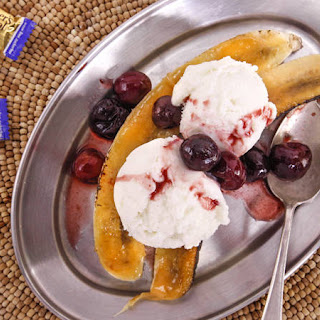Bruleed Bananas with Frozen Yogurt Recipe