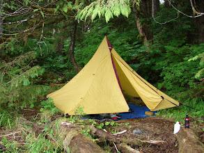 Photo: My campsite on Blake Island.