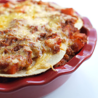 Quinoa and Sweet Potato Enchilada Pie