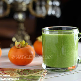 Sweet Persimmon Raw Food Green Smoothie