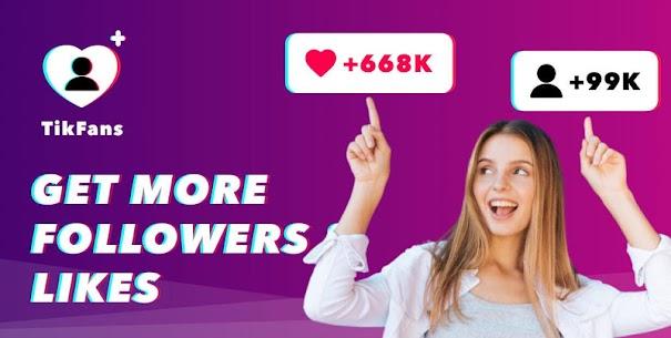 Tikfans : grow likes & followers for Tic Tok 1
