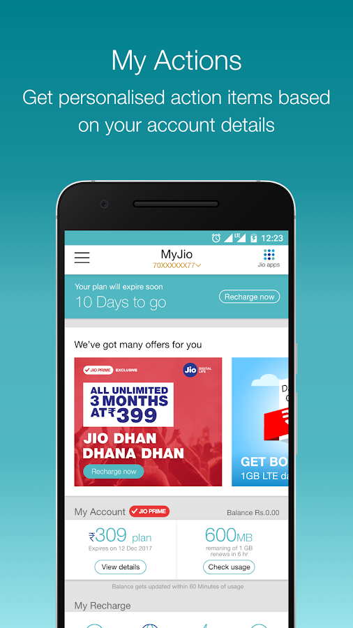 MyJio- screenshot
