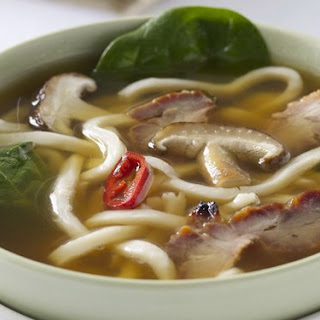 Barbecued Pork And Udon Soup