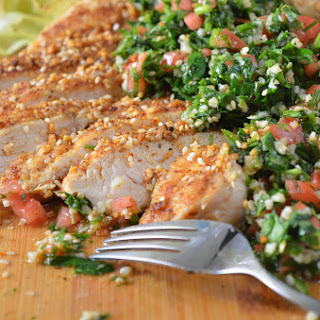 Dukkah Grilled Chicken with Tabbouleh