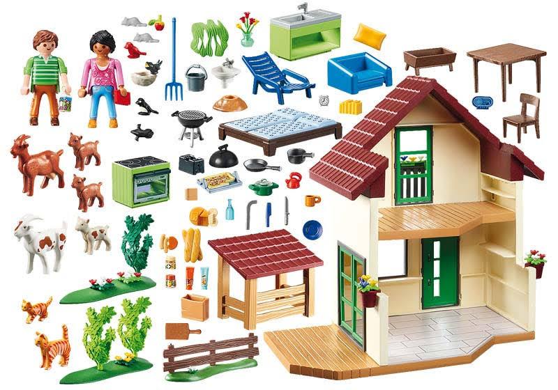 Contenido real de Playmobil® 70133 Casa de Campo