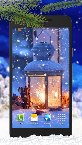 android Schnee Live-Hintergründe Screenshot 4