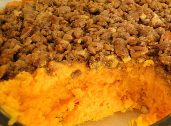Sweet Potato Casserole With Streusel Topping Recipe