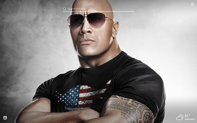 The Rock HD Wallpapers New Tab Theme