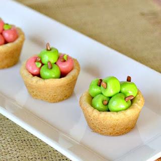 Apple Basket Sugar Cookie Cups