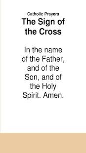 Katolické modlitby Známka kříže - náhled