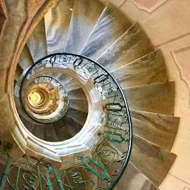 Stairway, Melk Abbey, Lower Austria by Timothy Carney - Buildings & Architecture Architectural Detail ( melk abbey, baroque, spiral staircase, austria )