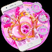 Pink Diamond Glitter Heart Theme