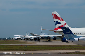 Photo: Departure que at one of the planet's busiest airports, London Heathrow (LHR/EGLL)