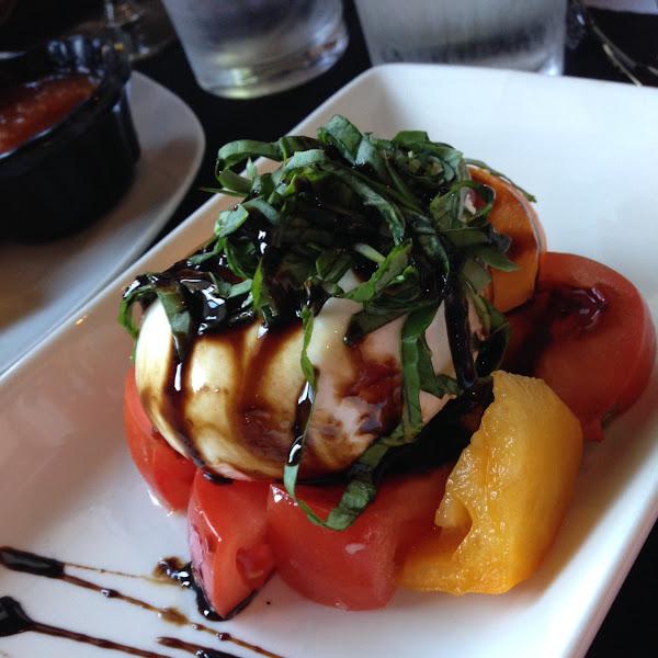 Burrata caprese appetizer