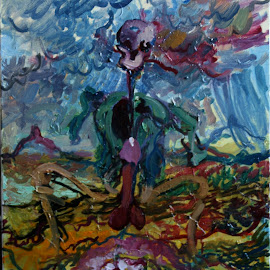 Scarecrow Reaper by To Mi - Painting All Painting ( art, painting, reaper, mickonis, scarecrow )