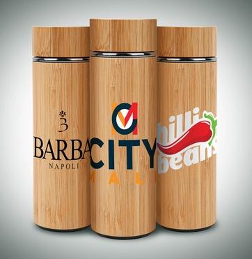 16 oz. Vacuum Sealed Eco Bamboo Bottle