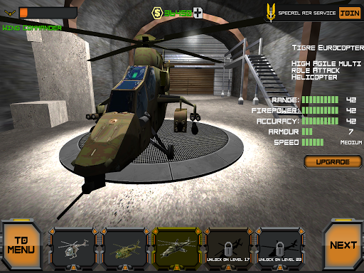 Helicopters in Combat 3D sim