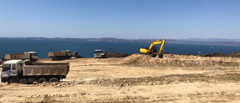 Start of site preparation as of April 2020