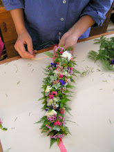 Photo: Also mix in complimentary color flowers will give the Haku lei another punch