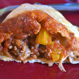 Pepper, Onion and Sausage Calzones