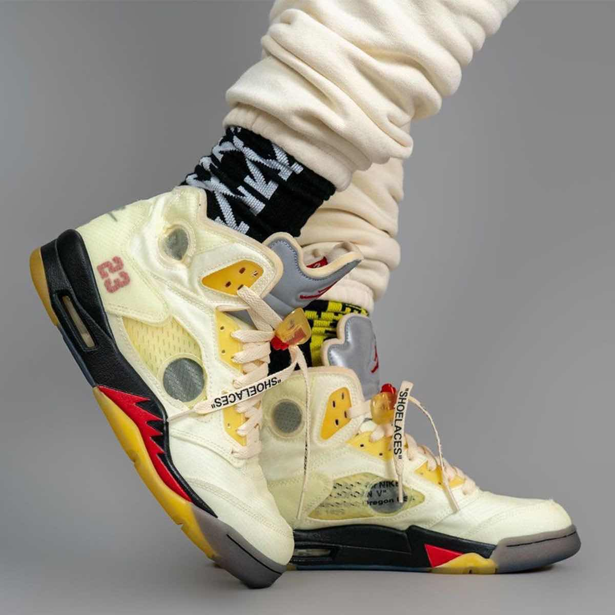 Latest Obsession: OFF-WHITE X AIR JORDAN 5 RETRO SP 'FIRE RED'