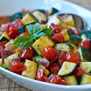Sautéed Zucchini and Cherry Tomatoes.