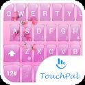 Keyboard Theme Glass Pink Flow