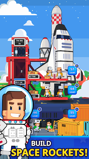 Rocket Star - Idle Space Factory Tycoon Games 1.27.1 screenshots 1