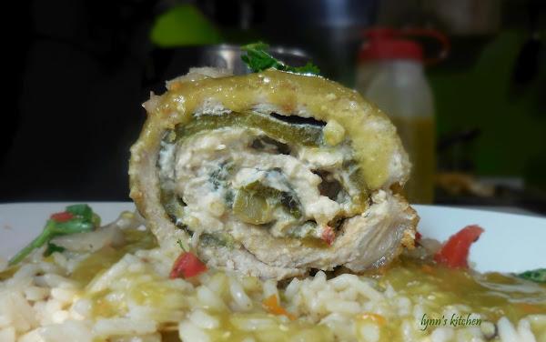Pork Poblano Cream Cheese Roll Ups Recipe