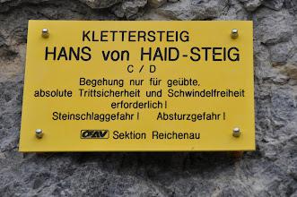 Photo: Výstup ferátou Hans von Haid-Steig na vrchol Preinerwand-Kreuz (1783 m n. m., sobota 29. 9. 2012).