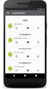 Secret Codes For Android Screenshot