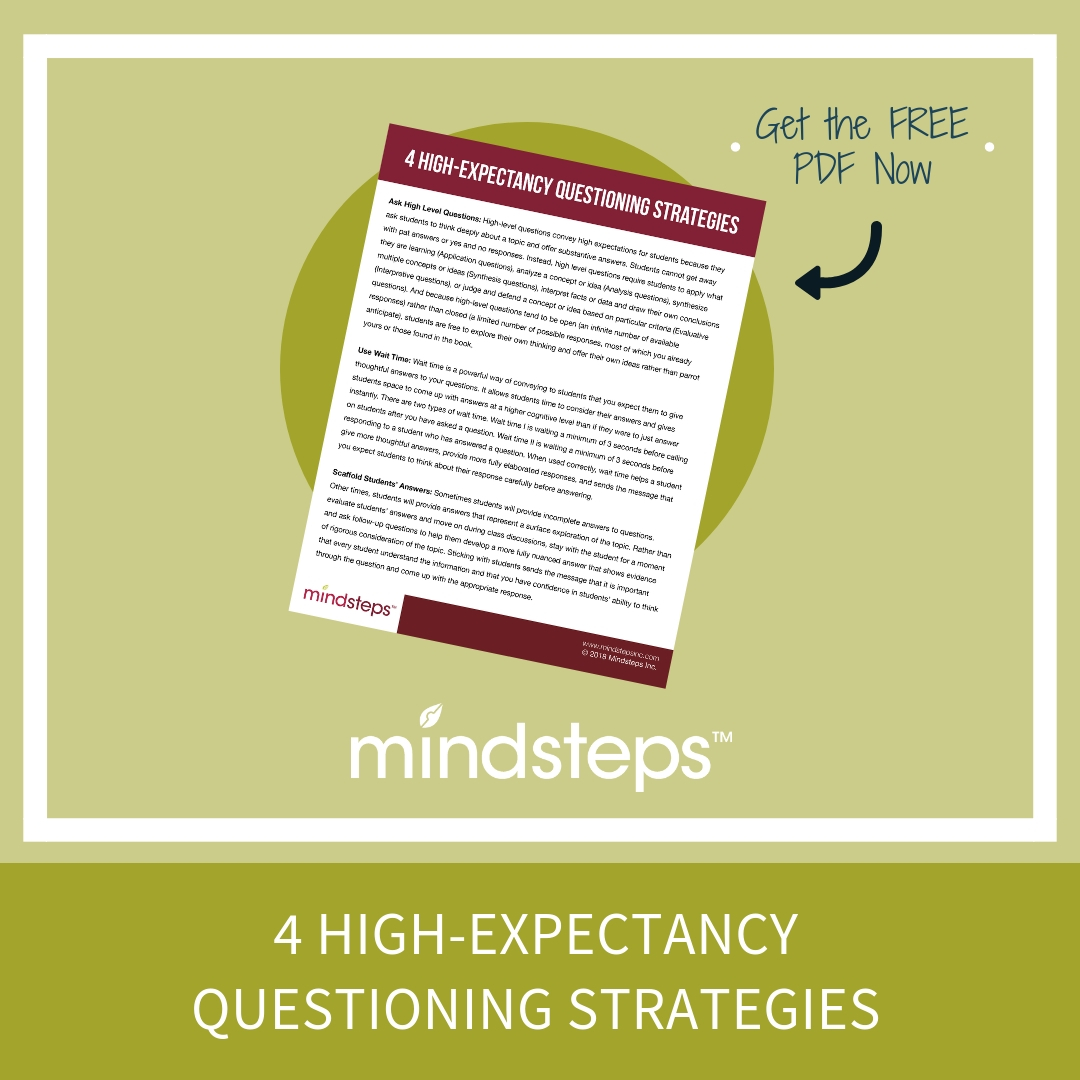 4 High Expectancy Questioning Strategies