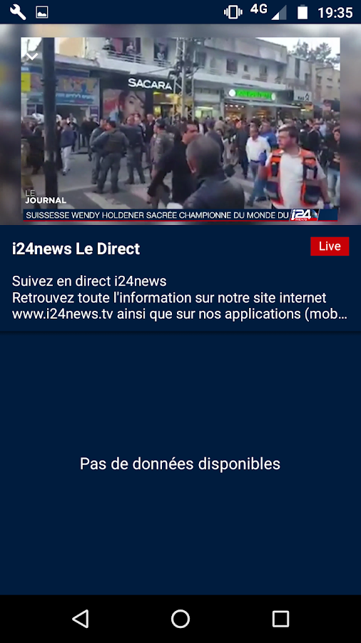 i24NEWS – Capture d'écran