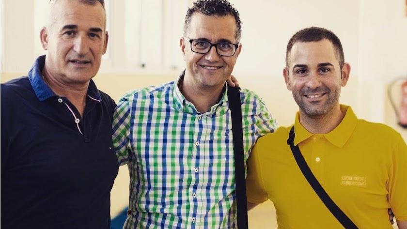 Juan Martínez Oliver, Rogelio Buceta y Sergio Domínguez.