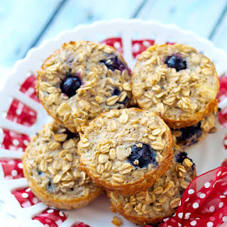 Blueberry Baked Oatmeal Muffin Cups