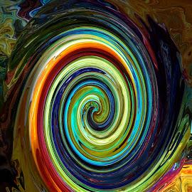 Tsunami  by Vijay Govender - Digital Art Abstract ( abstract, spirals )