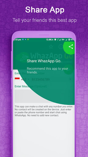 WhazappGo - Direct Chat & Video Status Saver 3.5 screenshots 6