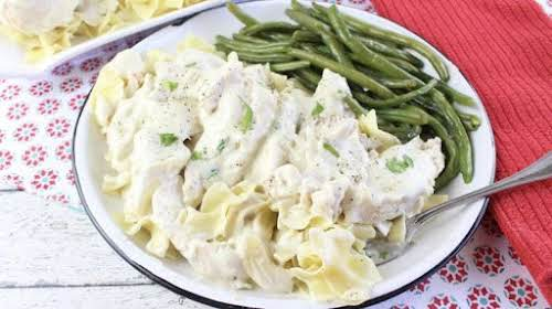 """Sour Cream Gravy """"This flavorful chicken dish has a delectable sour cream..."""