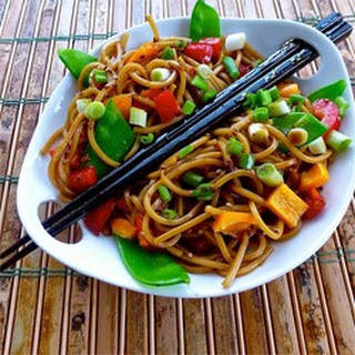 Easy Asian Pasta Salad.