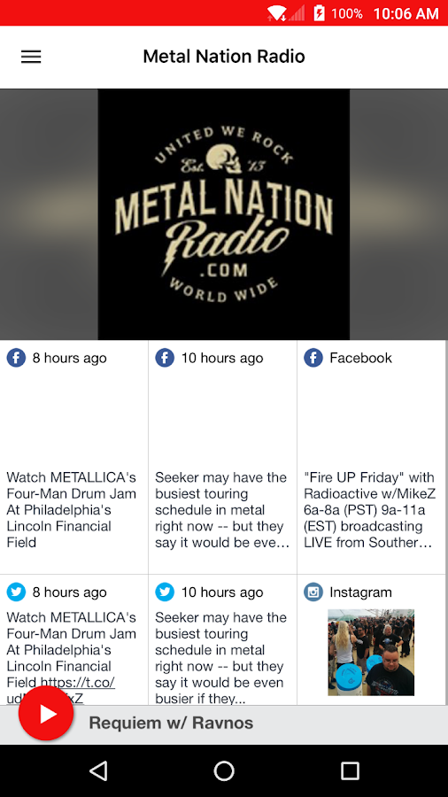 Metal Nation Radio- screenshot