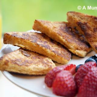 Wholegrain Cinnamon Toast With Fresh Summer Fruits.