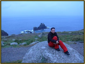 Photo: Andrea at Lands End...a cold day!