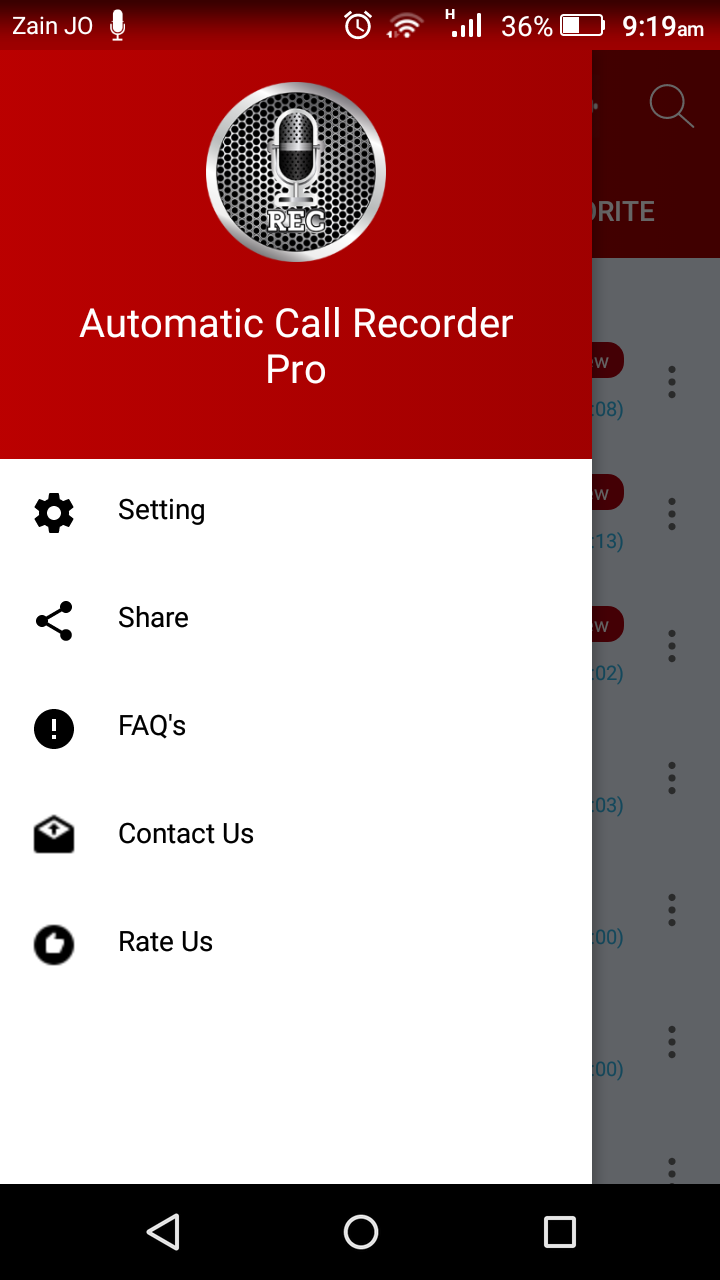 Automatic Call Recorder Pro 2019 - ACR Tool.(GOLD) Screenshot 5