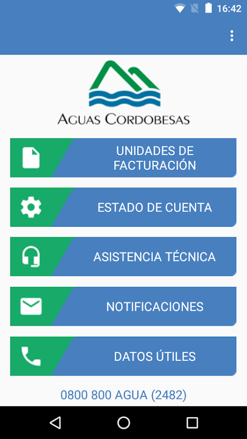 Aguas Cordobesas- screenshot
