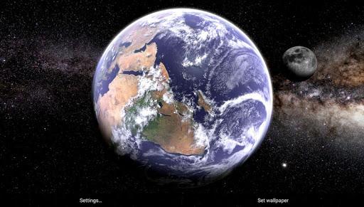 Earth & Moon in HD Gyro 3D Parallax Live Wallpaper 2.8 Screenshots 12
